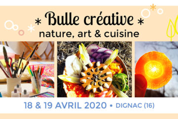 week-end stage créativité nature, art et cuisine, sanspour100plaisirs