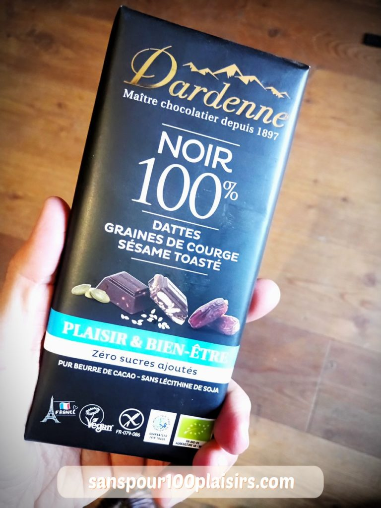 chocolat noir dardenne, mon avis, sanspour100plaisirs.com