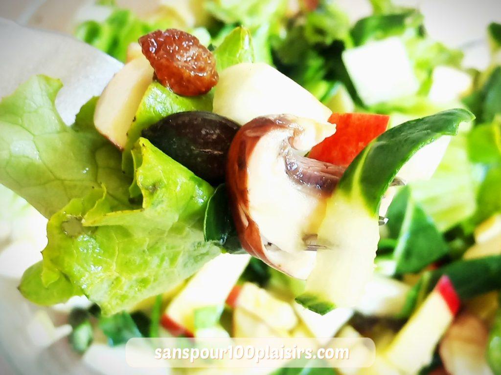 blettes crues en salade, sanspour100plaisirs.com