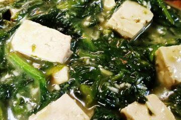 Epinards fondants à la coco et au tofu mariné - sanspour100plaisirs.com